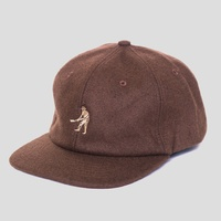 Pass~Port Brown Wool Cap 6 Panel Hat New Strap Back Skate Free Post Aust Passport