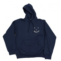 CHRISTIE NYC SMILE HOODIE NAVY NEW PULLOVER SKATE SHOP AUS KINGPIN FREE POST
