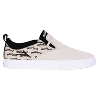 LAKAI RILEY 2 X MOTORHEAD WHITE / BLACK SUEDE SHOES FREE POSTAGE AUSTRALIAN SELLER