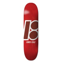 PLAN B 8.375' CHRIS COLE STAINED NEW RED SKATEBOARD DECK AUS SELLER FREE GRIP SKATEBOARDS