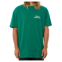 STUSSY TEE THINK SS T-SHIRT KELLY GREEN AUST SELLER