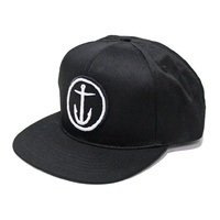 CAPTAIN FIN CO OG ANCHOR 6 PANEL CAP NEW BLACK SNAPBACK