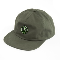 CAPTAIN FIN CO MIN OG ANCHOR 5 PANEL CAP NEW OLIVE SNAPBACK