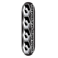 CONSOLIDATED DECK 8.0' 4 Cube Grey SKATEBOARD DECK AUS SELLER FREE POST KINGPIN SKATE SHOP