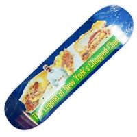 "HOTEL BLUE SKATEBOARD DECK CHOPPED CHEESE NYC 8.0"" DECKS KINGPIN SKATE SHOP FREE GRIP"