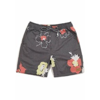 BRIXTON HAVANA TRUNK BLACK / YELLOW / RED shorts board shorts