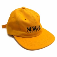 HOTEL BLUE NYC Stacks Cap Yellow New 6 Panel Hat Free Post Aus Skate Shop Kingpin