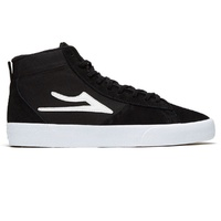 LAKAI NEWPORT HIGH SHOES BLACK WHITE SUEDE FREE POSTAGE AUSTRALIAN SELLER