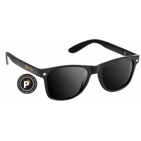 GLASSY LEONARD POLOURIZED BLACK SUNGLASSES SHADES SUNNIES SKATE SURF