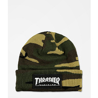 THRASHER LOGO PATCH BEANIE CAMO BEANIE HAT FREE POST SKATE SURF AUST SELLER
