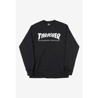 THRASHER CLASSIC LOGO LONG SLEEVE T-SHIRT BLACK NEW TEE NEW