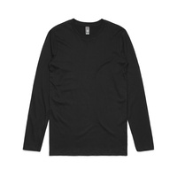 AS COLOUR Long Sleeve T-SHIRT Staple Tee Mens Top BLACK