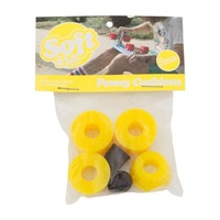 PENNY TRUCKS REBUILT KIT YELLOW Bushings 83 DURO SOFT Standard TRUCK RUBBERS PIVOT CUP KIT