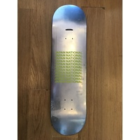 "JAPAN NATIONAL DECK 8.625"" silver SKATEBOARD DECK AUS SELLER"
