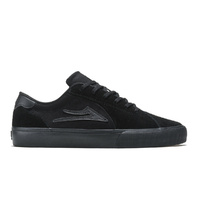 LAKAI Flaco II BLACK BLACK Suede Skateboard Shoes | mens black skate board shoes