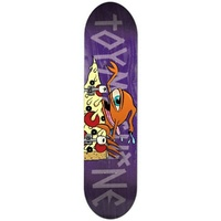 "TOY MACHINE Pizza Sect 7.75"" X 31.75"" Skateboard Deck PURPLE 