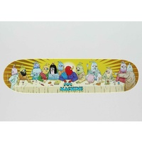 "TOY MACHINE Last Supper 8.0"" X 31.63"" Skateboard Deck YELLOW 