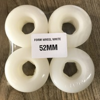 FORM SKATEBOARD WHEELS SET OF 4 WHITE CONICAL 52MM HARD FREE POSTAGE AUSTRALIAN SELLER