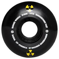 HAZARD WHEELS SWIRL CP RADIAL 53MM 101A BLACK Skateboard Skate Free Post Aus