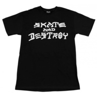 Thrasher Skate and Destroy T-SHIRT Tee black NEW FREE POSTAGE AUSTRALIAN SELLER