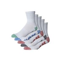 GLOBE MARLE CREW SOCKS 5 PACK WHITE SKATEBOARD SURF MENS SIZE 7 - 11
