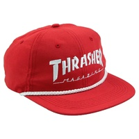 Thrasher Rope 6 Panel Hat Red New Cap Skate Free Postage Australian Seller Sk8