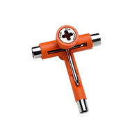 REFLEX SKATE TOOL ORANGE MULTI FUNCTION SKATEBOARD T-TOOL FREE POST AUS SELLER