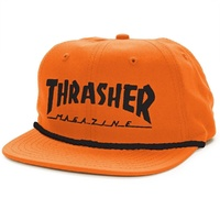 Thrasher Rope 6 Panel Hat Orange New Cap Skate Free Postage Australian Seller
