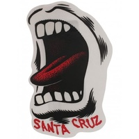 "SANTA CRUZ SCREAMING MOUTH STICKER 3.5"" X 2.25"" SPEED WHEELS NEW AUST SELLER"