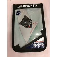 Captain Fin Co Dane Reynolds Thruster FCS FINS Silver NEW 4.55 SURFBOARD SURF