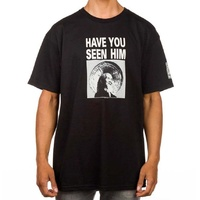 POWELL PERALTA CHIN HAVE YOU SEEN HIM BLACK TEE SKATE SKATEBOARD SURF NEW