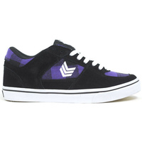 VOX FOOTWEAR TROOPER BLACK/PURPLE SKATE SKATEBOARD SCHOOL SHOES KINGPIN STORE