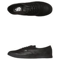 VANS AUTHENTIC LO PRO ITALIAN LEATHER BLACK/BLACK SKATEBOARD SCHOOL SHOES