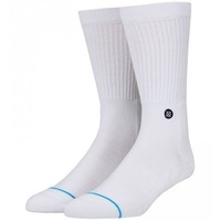 STANCE SOCKS ICON WHITE LARGE US 9 - 12 FREE POSTAGE AUSTRALIAN SELLER