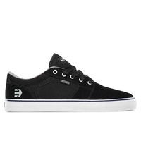 ETNIES SHOES BARGE LS BLACK WHITE SKATEBOARD AUSTRALIAN FREE POSTAGE