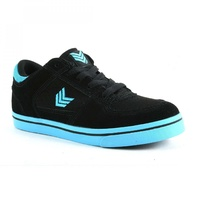 VOX FOOTWEAR KIDS TROOPER CYAN / BLACK SKATEBOARD SCHOOL SHOES YOUTH KID