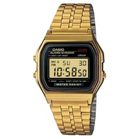 CASIO WATCH GENTS DIGITAL AUST SELLER A159WGEA-1DF WATCHES GOLDTONE NEW