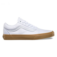 VANS OLD SKOOL WHITE / CANVAS / GUM SHOES NEW AUSTRALIAN SELLER old school