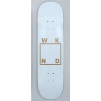 "WKND 8.25"" WHITE VENEER TEAM LOGO SKATEBOARD DECK AUS SELLER FREE POST"