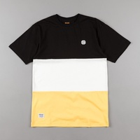 Butter Goods Tee Tri Block Black White Yellow T-Shirt New Skate Aus Buttergoods