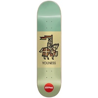 "ALMOST KNIGHT 420 Skateboard R7 Youness Amrani 8.125"" DECK IMPACT PLUS FREE GRIP"