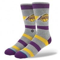 STANCE SOCKS LAKERS 2 GREY L - XL MENS US 9-13 NEW AUST SELLER Sock Sox