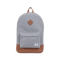 HERSCHEL HERITAGE BACKPACK GREY / TAN SUPPLY COMPANY BACK PACKS BAGS BAG AUST