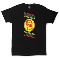 THRASHER BURNT T-SHIRT BLACK RASTA NEW TEE