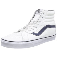 VANS SHOES SK8-HI REISSUE (LEATHER) WHITE / STRIPES VN0003CA1M NEW SALE