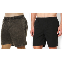 STUSSY BEACHSHORT RENEE OR SOLID POPLIN BLACK BEACHSHORT FREE POST AUST SELLER