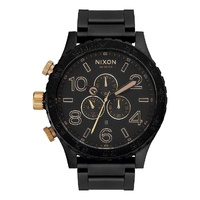 NIXON 51-30 CHRONO MATTE BLACK / GOLD WATCH NEW AUST SELLER