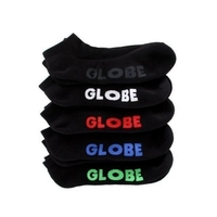GLOBE KIDS SIZE 2-8 ANKLE STEALTH SOCKS 5 PACK BLACK SKATEBOARD SURF
