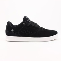 EMERICA SHOES REYNOLDS LOW BLACK / SILVER NEW FREE POST SKATEBOARD SKATE SHOES