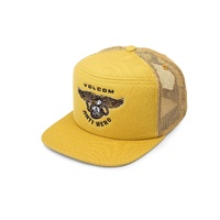 VOLCOM TRUCKER CAP HASH STASH GOLD SKATEBOARD HAT CAP KINGPINSTORE FREE POST